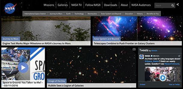 NASA используют сетку Bootstrap, чтобы создать карточный макет