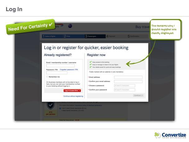 Страницы регистрации и оплаты