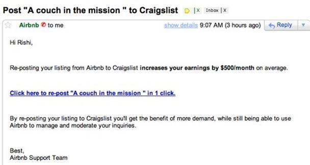 «Перепостите ваш листинг с Airbnb на Craigslist»