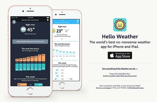 Погодное приложение Hello Weather для iPhone и iPad