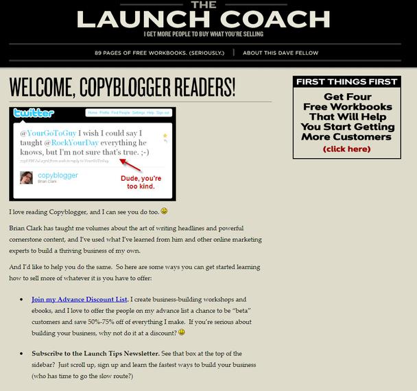есть специальная приветственная страничка для читателей, желающих узнать побольше об авторе