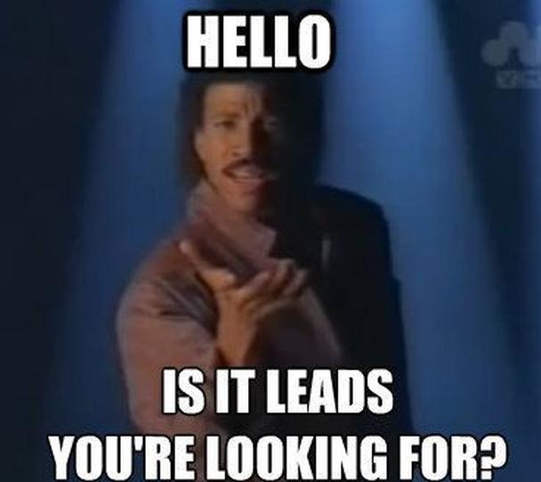 «Привет, вы не эти лиды искали?»