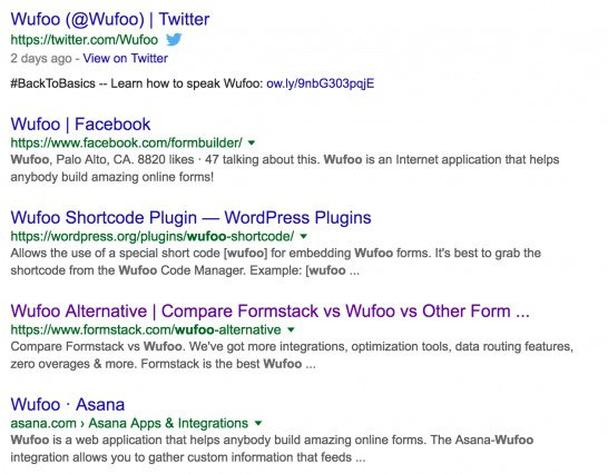 Wufoo Search Results
