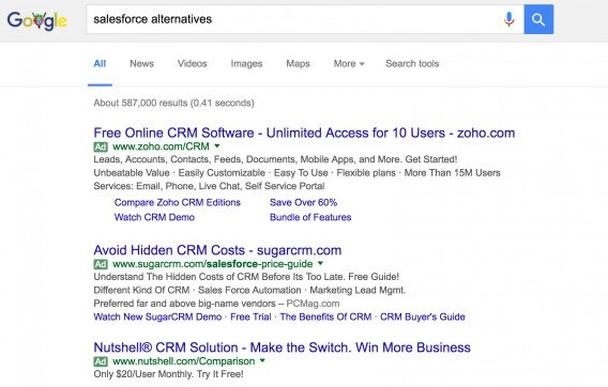 Salesforce Alternatives Search Results