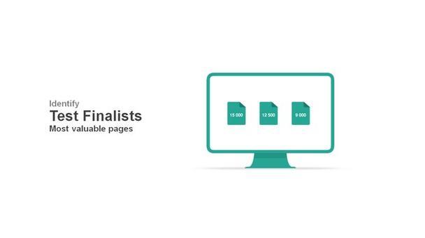 Определение «финалистов» испытаний — самых ценных с точки зрения CRO страниц