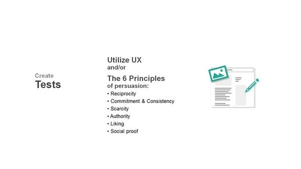 Разработайте тест, используя UX и/или 6 принципов убеждения