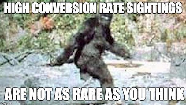 Высокие показатели конверсии не так редки, как вы привыкли думать