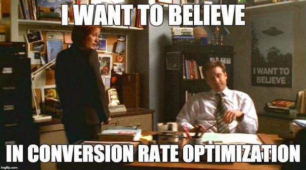 Я хочу верить в оптимизацию конверсии