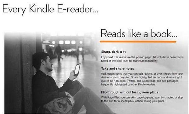 Посадочная страница для ридера Amazon Kindle Voyage