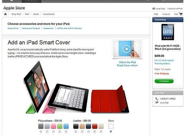 Выберите аксессуар для вашего iPad. Добавьте к вашему заказу смарт-обложку.