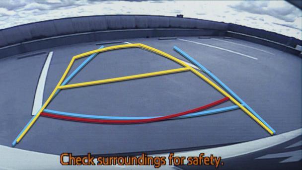 Программа-парковщик накладывает символы на видео с задней камеры Toyota Prius