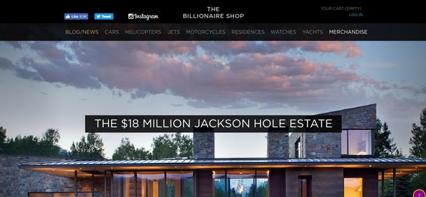 Сайт предметов роскошной жизни Thebillionaireshop