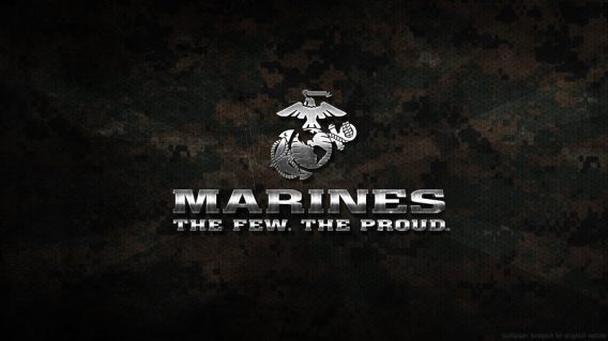 Пример изображения в сети с символом и слоганом американских морпехов