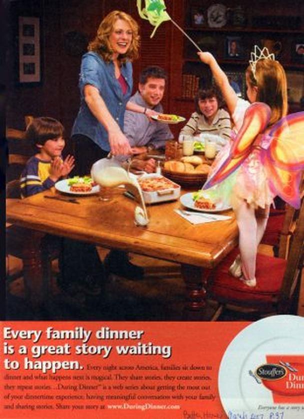 Реклама нового проекта кулинарного портала Stouffers