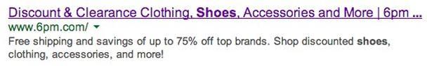 Ценностное предложение от «6pm.com»: продукция топ-брендов со скидками до 75%