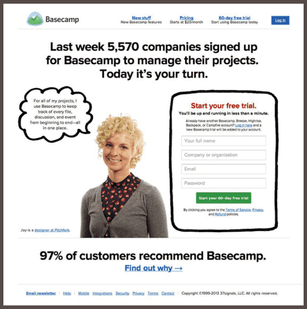 97% клиентов рекомендуют Basecam