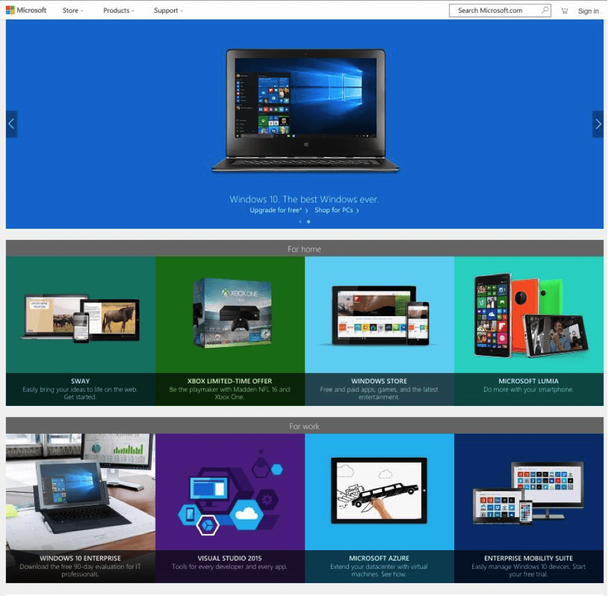 домашняя страница Microsoft