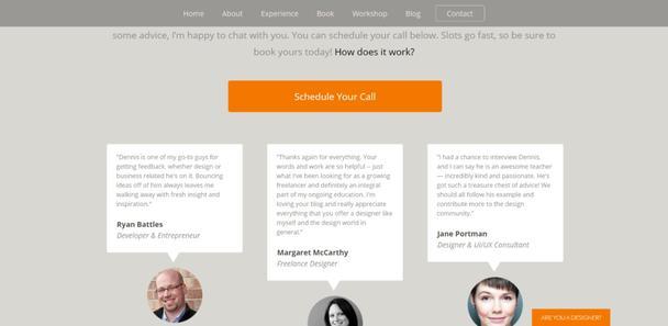Лендинг для продвижения консультационных услуг профессионального веб-дизайнера