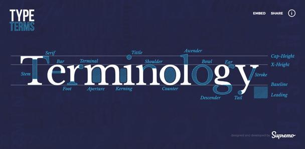 Шрифтовая терминология