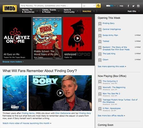 Сайт кино и ТВ IMDb