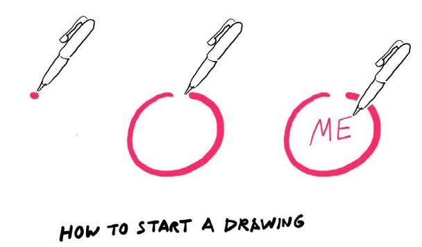 Как начать рисовать: пойдем от простого — круг и «я» в середине