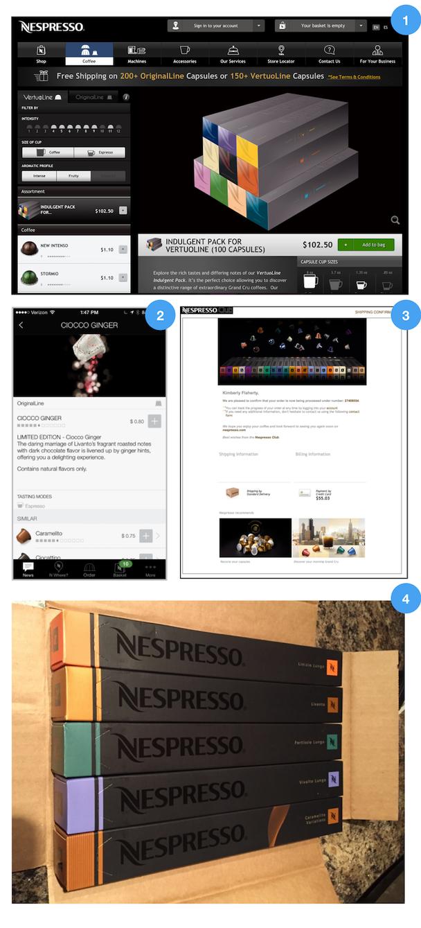 Визуальный дизайн Nespresso