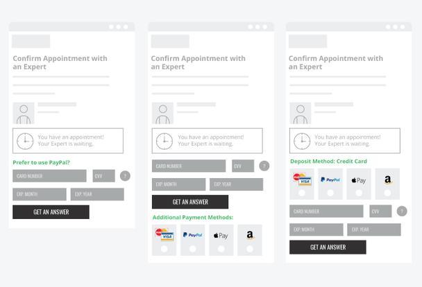 Будет ли клиент использовать альтернативные способы оплаты? Тест покажет!