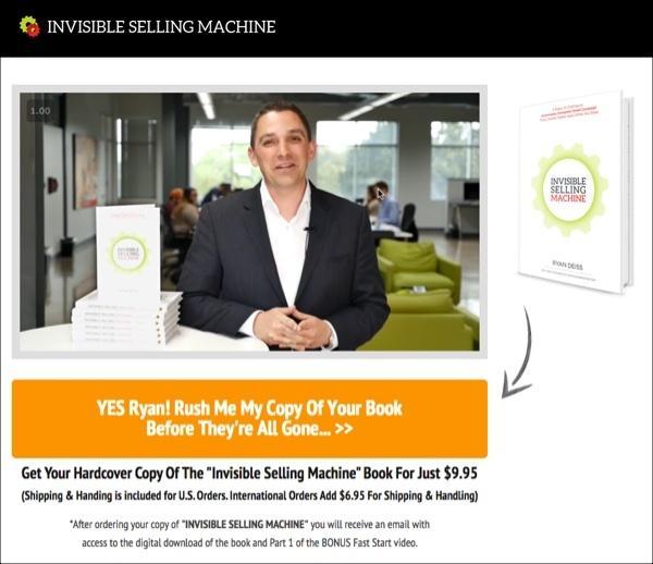 Учебник по искусству продаж «Invisible Selling Machine» в твердой обложке продается по цене его цифровой копии