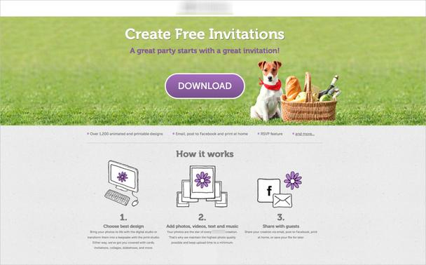 Создавайте бесплатные приглашения Отличная вечеринка начинается с отличного приглашения
