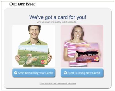 У нас есть для вас есть кредитная карта! И вы можете в течение следующих 60 секунд сами выбрать наиболее подходящую. Начните исправлять имеющуюся кредитную историю или создавать новую