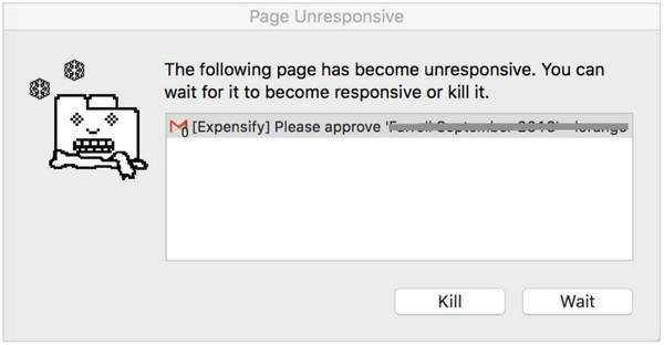 «Эта страница перестала отвечать на запросы. Вы можете подождать, пока она не ответит, либо убить ее»