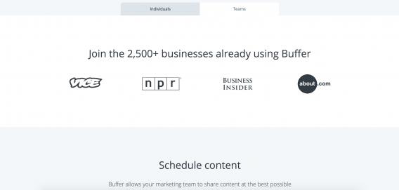 Присоединяйтесь к 2 500+ компаний, уже использующих Buffer