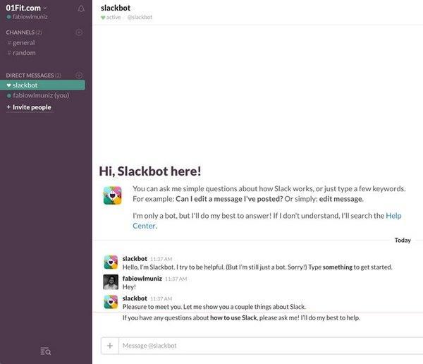 Привет, Slackbot на связи