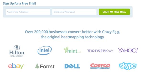 Более 200 000 компаний конвертируют лучше с Crazy Egg, оригинальной технологией тепловых карт