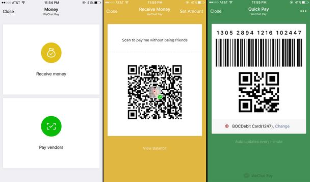 WeChat Pay позволяет платить и принимать оплаты