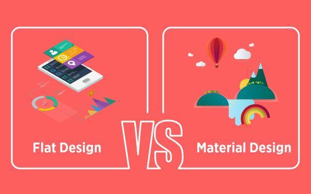 Плоский дизайн vs материальный веб-дизайн
