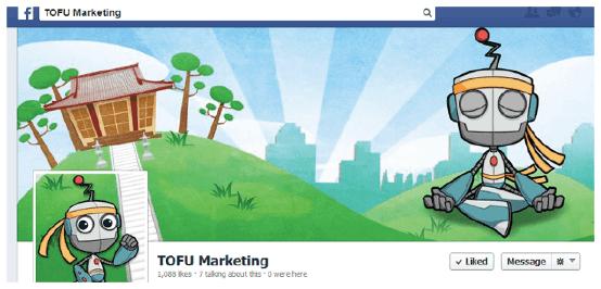 TOFU Marketing присутствует в Facebook для повышения узнаваемости бренда