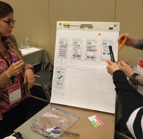 Группа на семинаре «Результаты разработки UX» в рамках конференции Nielsen Norman Group