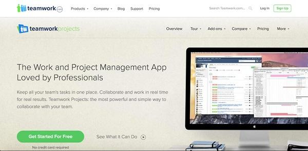 Домашняя страница Teamwork Projects