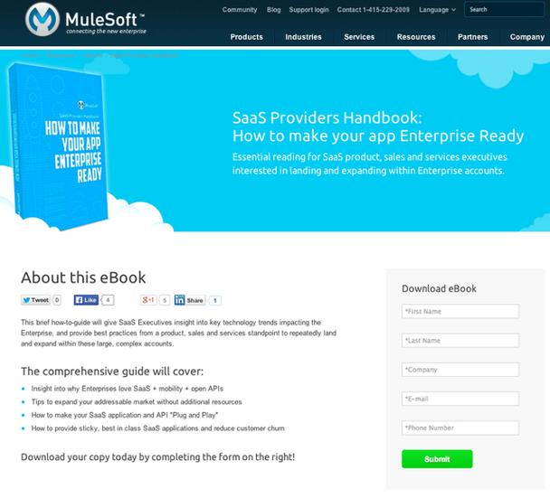 Лид-магнит от MuleSoft — книга-гид для специалистов SaaS.
