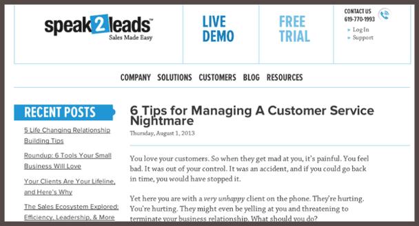 Оригинал статьи «6 подсказок» (6 Tips…) первоначально публикуется в собственном блоге компании Speak2Leads