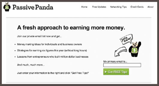 PassivePanda предлагает бесплатные советы о ведении бизнеса через электронную рассылку