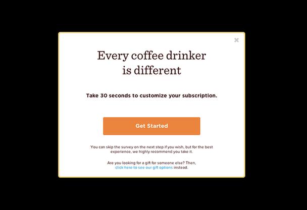 Каждый кофеман индивидуален. Потратьте 30 секунд, чтобы настроить свою подписку