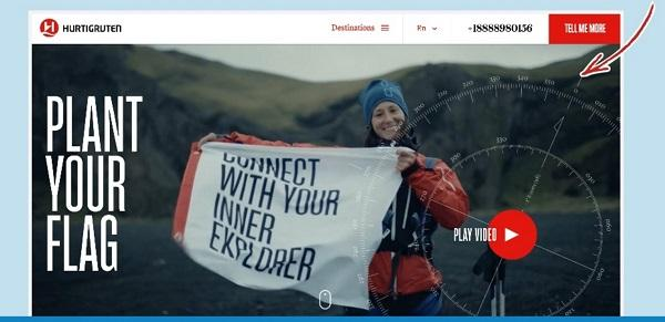 Сайт круизной компании Hurtigruten