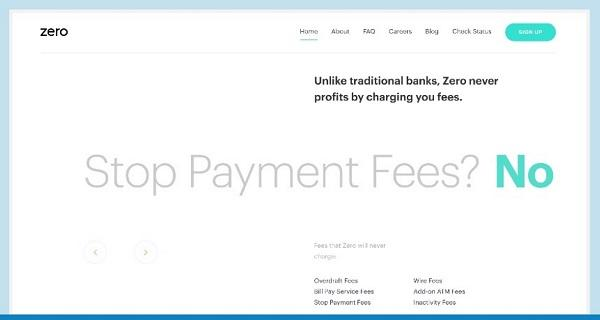 Сайт компании Zero Financial
