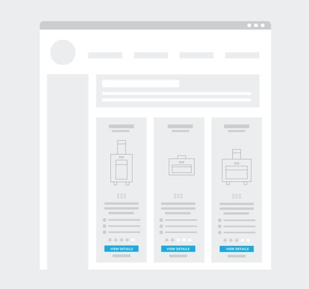 Вертикальное расположение товаров на странице