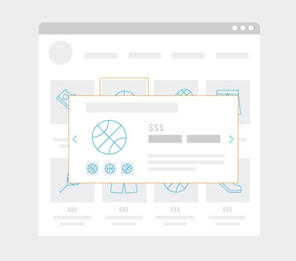 Исходная страница с функцией быстрого просмотра