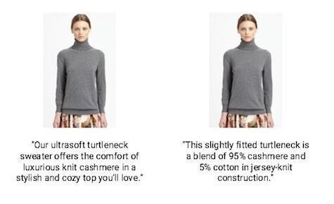 два описания свитера