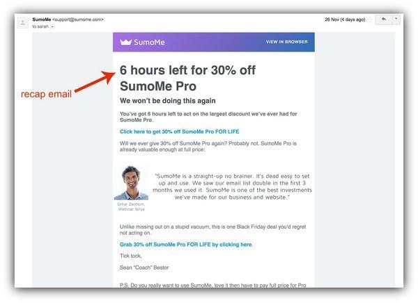 Осталось 6 часов, чтобы перейти на тариф SumoMe Pro со скидкой в 30%