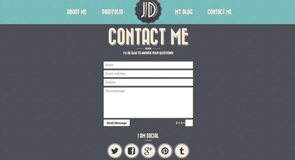 Добавьте контактную форму